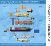 freight transport and packaging ... | Shutterstock .eps vector #377659330