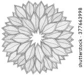pattern for coloring book.... | Shutterstock . vector #377663998