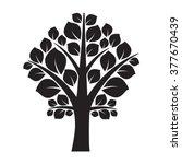 black tree. vector illustration. | Shutterstock .eps vector #377670439
