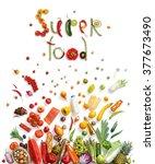 super food  food choice  ... | Shutterstock . vector #377673490