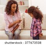 beautiful young afro american... | Shutterstock . vector #377673538