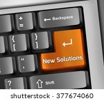 keyboard illustration with new... | Shutterstock . vector #377674060