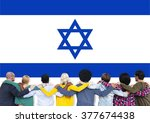 israel country flag liberty... | Shutterstock . vector #377674438