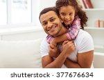 cute little afro american girl... | Shutterstock . vector #377676634
