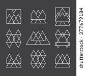 set of 9 geometric shapes... | Shutterstock .eps vector #377679184