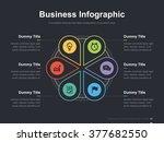 flat business presentation... | Shutterstock .eps vector #377682550