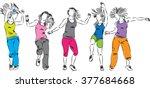 dancers group illustration
