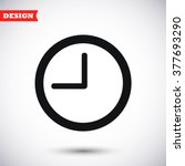 clock vector icong | Shutterstock .eps vector #377693290