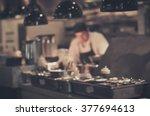 blurred restaurant chef  chef... | Shutterstock . vector #377694613
