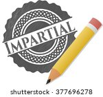 impartial drawn with pencil... | Shutterstock .eps vector #377696278