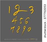 alphabet   number   handwriting ...   Shutterstock .eps vector #377702053