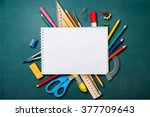 desk. | Shutterstock . vector #377709643