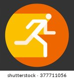 fast running icon  vector... | Shutterstock .eps vector #377711056