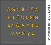 alphabet   number   handwriting ... | Shutterstock .eps vector #377716456