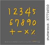 alphabet   number   handwriting ... | Shutterstock .eps vector #377716510