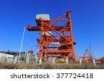 port crane bridge and bulk... | Shutterstock . vector #377724418