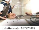 businessman making presentation ... | Shutterstock . vector #377728309