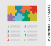 eight vector jigsaw puzzle... | Shutterstock .eps vector #377733853