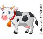 cartoon happy cartoon cow | Shutterstock . vector #377733880