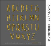 alphabet   number   handwriting ... | Shutterstock .eps vector #377737240