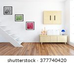 white room with stairs and... | Shutterstock . vector #377740420
