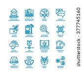business line icons. modern... | Shutterstock .eps vector #377745160