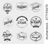 design   insignia sticker can... | Shutterstock .eps vector #377745670