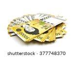 korean won currency bills... | Shutterstock . vector #377748370