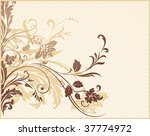 abstract floral background.... | Shutterstock . vector #37774972