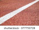 running track  depth of field   Shutterstock . vector #377753728