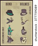 """poster """"bond and holmes"""" style  ... 