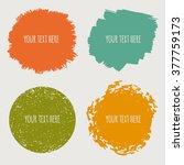 color grunge design elements.... | Shutterstock .eps vector #377759173