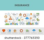 line design concept web banner... | Shutterstock .eps vector #377765350