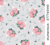 seamless floral pattern with... | Shutterstock .eps vector #377765440
