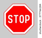 stop sign  stop sign icon  stop ... | Shutterstock .eps vector #377766184