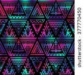 dark multicolor tribal navajo... | Shutterstock .eps vector #377770450