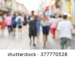 abstract of blurred people... | Shutterstock . vector #377770528