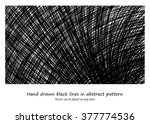 vector of hand drawn black... | Shutterstock .eps vector #377774536