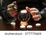 magician guesses on the ball | Shutterstock . vector #377775604