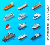 ships motorboats sailing yachts ... | Shutterstock .eps vector #377776234
