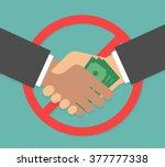 anti corruption concept.... | Shutterstock .eps vector #377777338