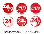 24 hours   7 days a week | Shutterstock .eps vector #377780848