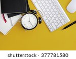 workplace. a day in the office | Shutterstock . vector #377781580