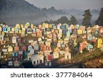 colorful cemetery in... | Shutterstock . vector #377784064