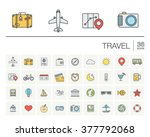 vector thin line icons set and... | Shutterstock .eps vector #377792068
