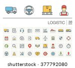 vector thin line icons set and... | Shutterstock .eps vector #377792080