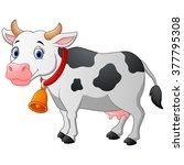 cartoon happy cartoon cow | Shutterstock .eps vector #377795308