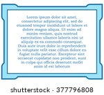blue border frame deco vector... | Shutterstock .eps vector #377796808