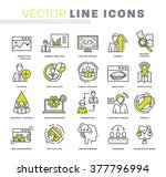 thin line icons set. business... | Shutterstock .eps vector #377796994