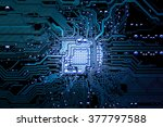 Closeup Electronic Circuit...